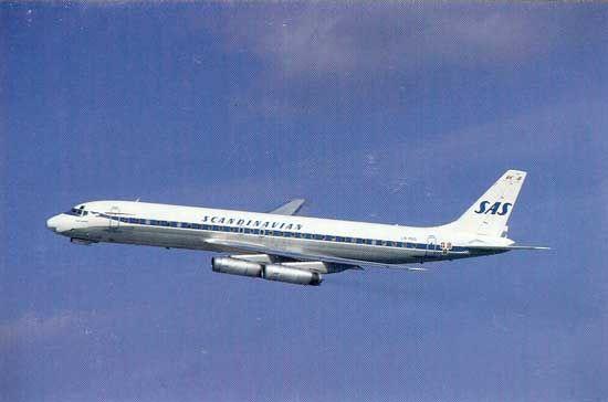 Famgus Aviation Postcards Sas Scandinavian Airlines System Scandinavian Airlines System Sas Airlines Sas