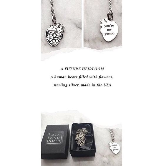 Anatomical Human Heart of Roses Necklace