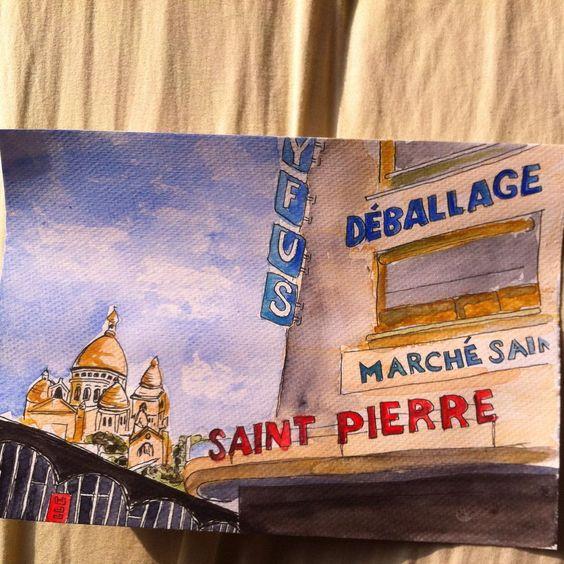 #souvenirdenfance, les après-midi avec maman au marché Saint Pierre pour acheter du tissus #flow29jours @flowmagazine_fr