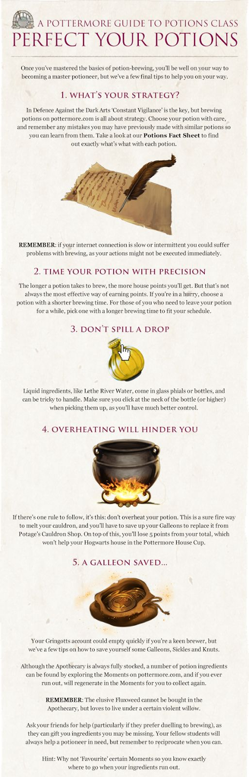 Pottermore Insider: Guide to Potions Class – Perfect Your ...