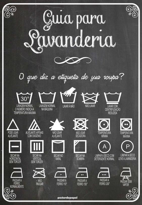 Poster Lavanderia Lousa | Poster de Papel | Elo7