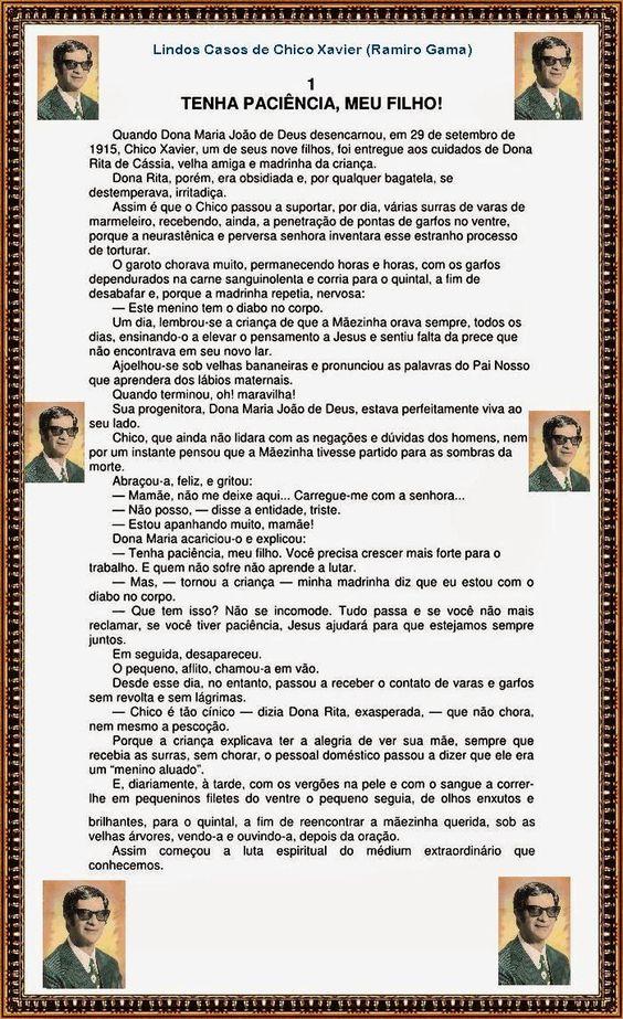 BIOGRAFIAS E COISAS .COM: HISTORIAS DE CHICO XAVIER 01
