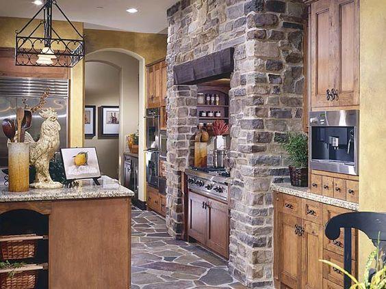 kitchen stone detail