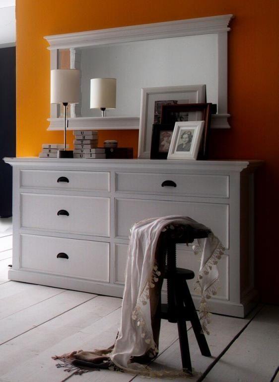 6 acajou bois blanc Commode ROYAN 145x85cm moderne tiroirs 2DE9HI