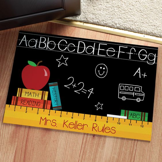 The perfect doormat for any classroom or teacher's home!