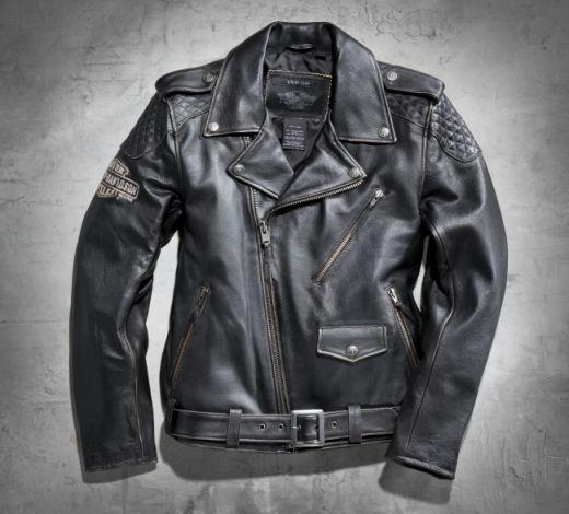 Jaqueta Biker vintage em couro