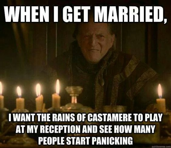 I want to do this! I just need to find an avid Game of Thrones fan: