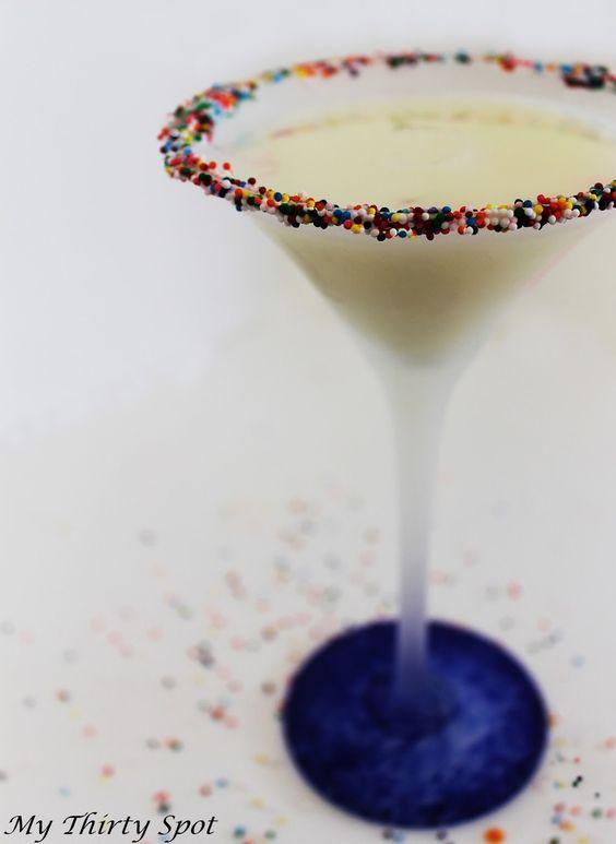 Birthday Cake Cocktail via @thirtyspot