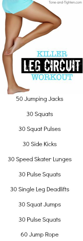 Killer Leg Circuit Workout on Tone-and-Tighten.com