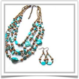"One-of-a-Kind ""Caribbean"" Jewelry Set - Designed by Belle Bijou:  http://www.bellebijoujewelry.com/store/detail/index.html#cid=38169"