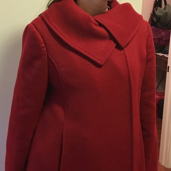 Ness cranberry colored wool coat | Coats, Wool and Wool coats