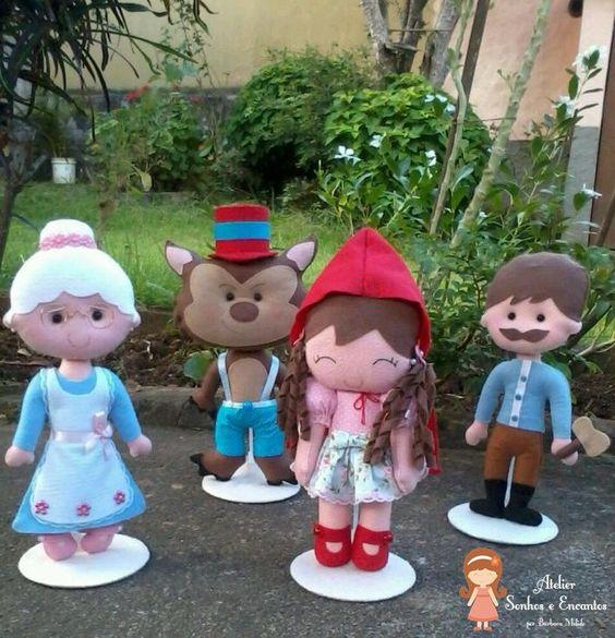 Personagens Chapeuzinho Vermelho | Atelier Sonhos e Encantos | Elo7