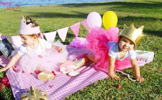 ensaio smash the cake ao ar livre, 1 ano, princesa, alice e helena.