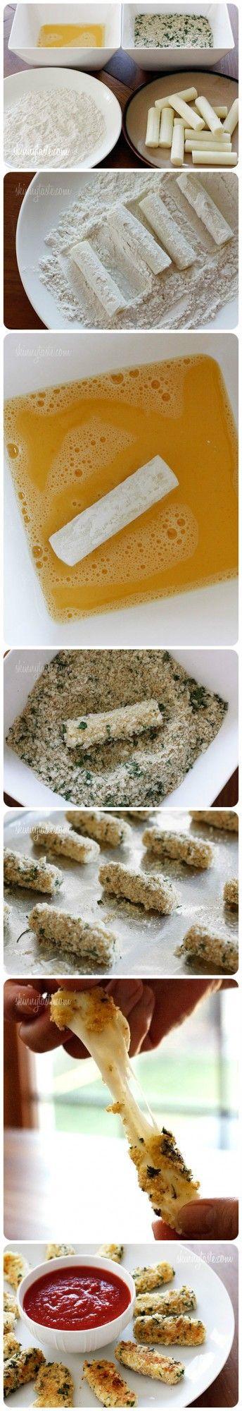 Baked Mozzarella Sticks Recipe: