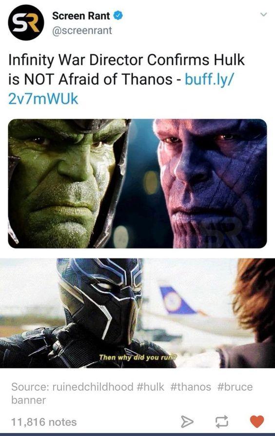 Avengers Infinity war hulk meme