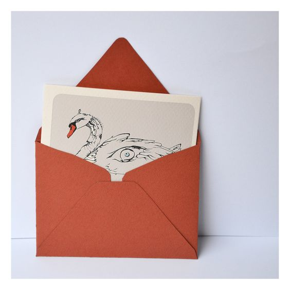 swan, postcard