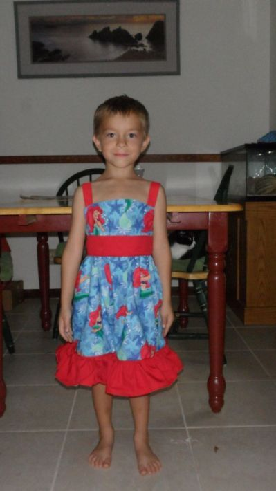 Son Dressed in a Dress
