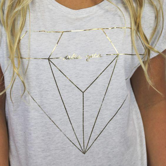 Delta Zeta Metallic Slouchy Sorority T-Shirt - Delta Zeta - Greek