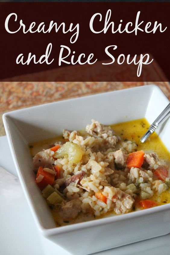 chicken and brown rice soup crock pot recipe