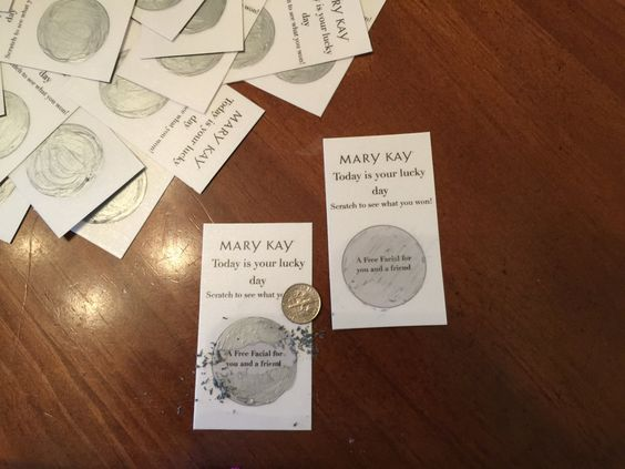 Mary Kay Scratch off tickets by MindasMKTools on Etsy