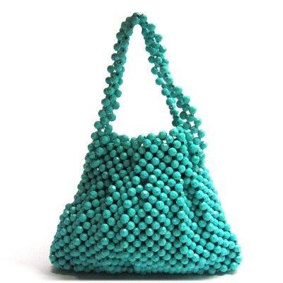 Green/blue vintage handbag #doortjevintage