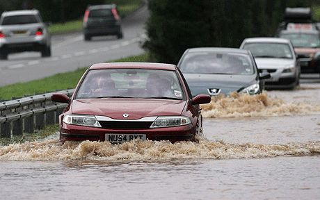 How to drive through floods