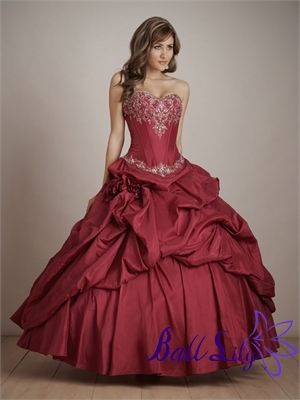 Quinceanera Dresses QC097 Main Fabric: 395 Satin Lining: Rich Satin Beadwork: Upscale Closure: Lace-up Back or Zipper