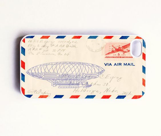 iPhone 4 Case  Vintage Airmail by onyourcasestore on Etsy, $16.99