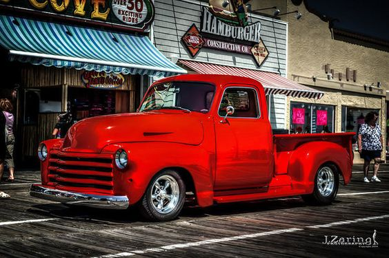 1950 Chevy Truck Red Print by Joshua Zaring.  All prints are professionally…