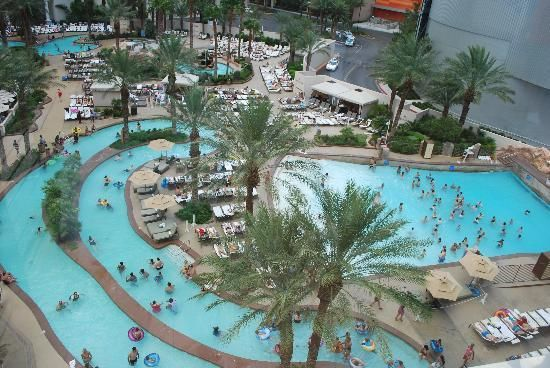 Pool at Monte Carlo, Las Vegas. This view doesn't include the sand volleyball or the bar!