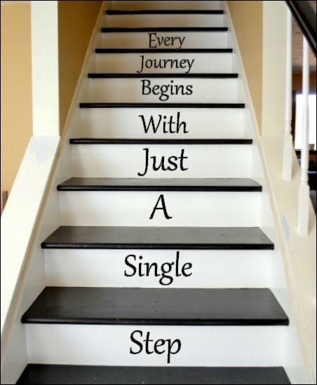Every Journey Begins With Just A Single Step - Vinyl decals for your Stairway:
