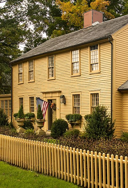 Colonial Mustard And Fence On Pinterest