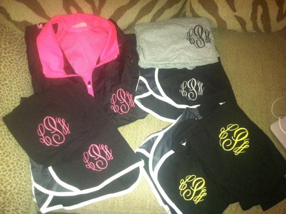 Workout Clothing Monograms And Workout On Pinterest