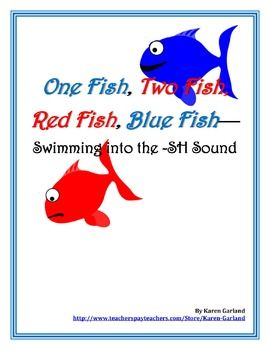FREE on TpT   -SH Diagraph with One Fish, Two Fish, Red Fish, Blue Fish