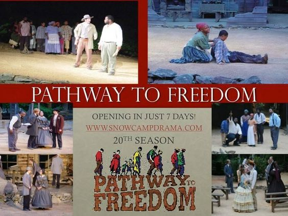 Pathway to Freedom Snow Camp, NC #Kids #Events