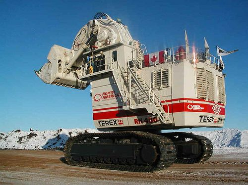 terex rh400 hydraulic shovel these gigantic machines. Black Bedroom Furniture Sets. Home Design Ideas