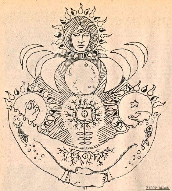 lunar mama // pacha mama // mother earth // illustration // goddess // roots // thank you earth