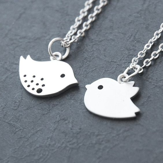 Mother and Baby Bird Necklace  Set of 2 Best by BabyLovesPink, $30.00
