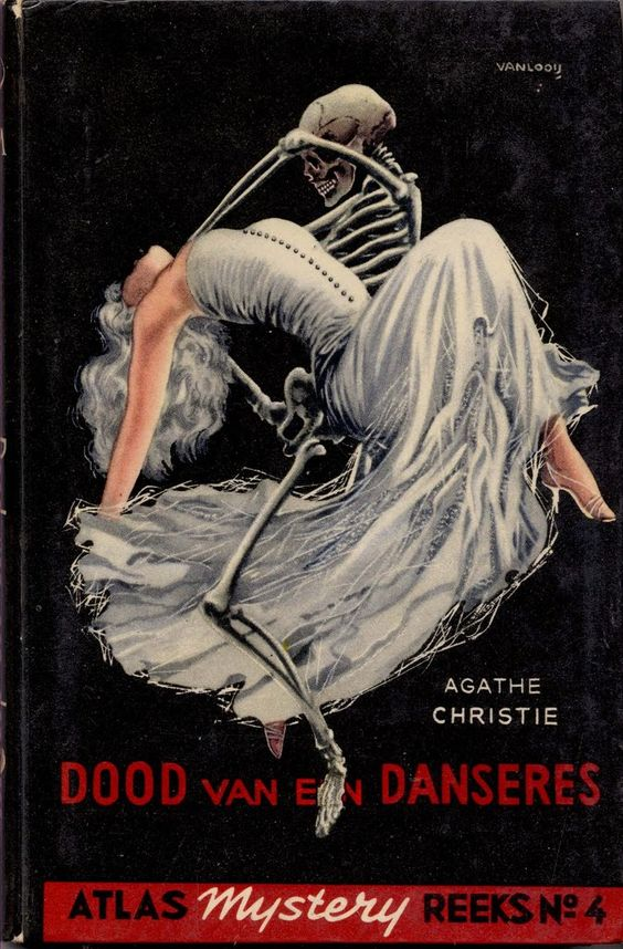 """Cover Art for Agatha Christie's """"the Body in the Library,"""" Rein van Looy (1910-1994)"""
