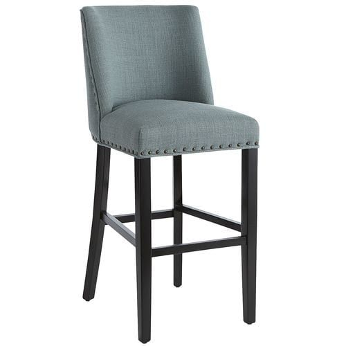Linen Bar Stool With Espresso Wood Bar Stools Counter Stools