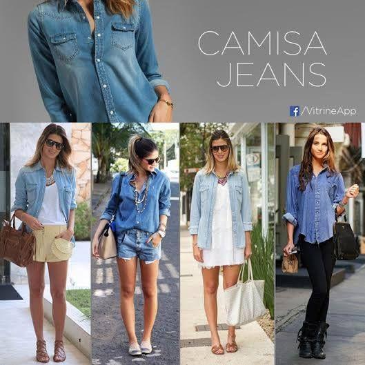 A camisa jeans é uma peça tão versátil que pode-se dizer que toda mulher deveria ter ao menos uma no seu guarda-roupa. Além de serem democráticas quanto aos estilos, as camisas jeans podem ser usadas em qualquer estação, desde que você adapte o look para o clima do momento. Camisa jeans é = Look casual chick!   #LoveIt #DicaDoDia #DicaVitrineApp #Camisa #CamisaJeans #Jeans  Mergulhe na moda em www.vitrineapp.com.br