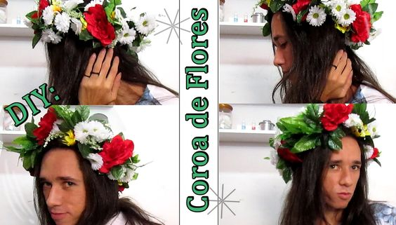 DIY: Coroa de Flores | Flower Headband | Por Vaan Rabelo