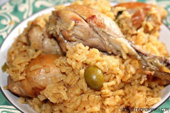 dominican rice & chicken/ locrio de pollo
