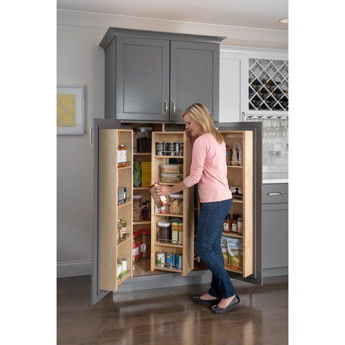 Hardware Resources Pantry Door Mount Cabinet Organizer 12 Inch X 45 Inch Pdm45 In 2020 No Pantry Solutions Pantry Design Pull Out Pantry