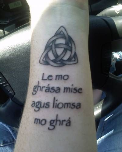 Irish Gaelic Tattoos And Meanings: Gaelic Tattoo, Celtic Knots And I Am On Pinterest