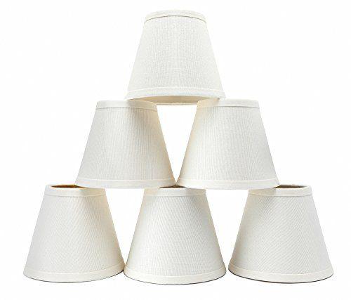 Set Of 6 Linen Chandelier Shades Eurus, Chandelier Lamp Shades Drum Shape