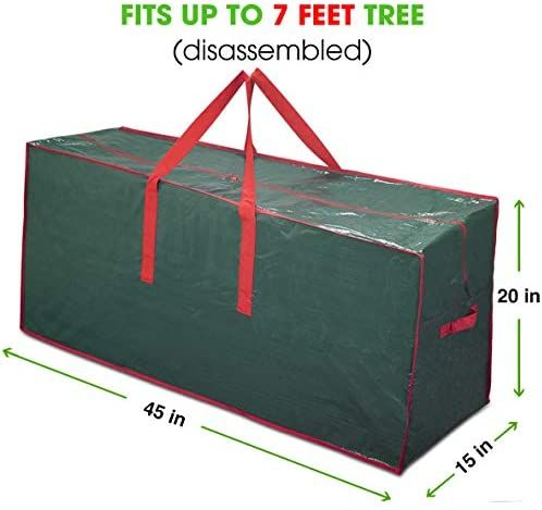 Propik Artificial Tree Storage Bag Fits Up To 7 Ft Tall Disassembled Tree 45 X 15 X 20 In 2020 Tree Storage Bag Bag Storage Holiday Storage
