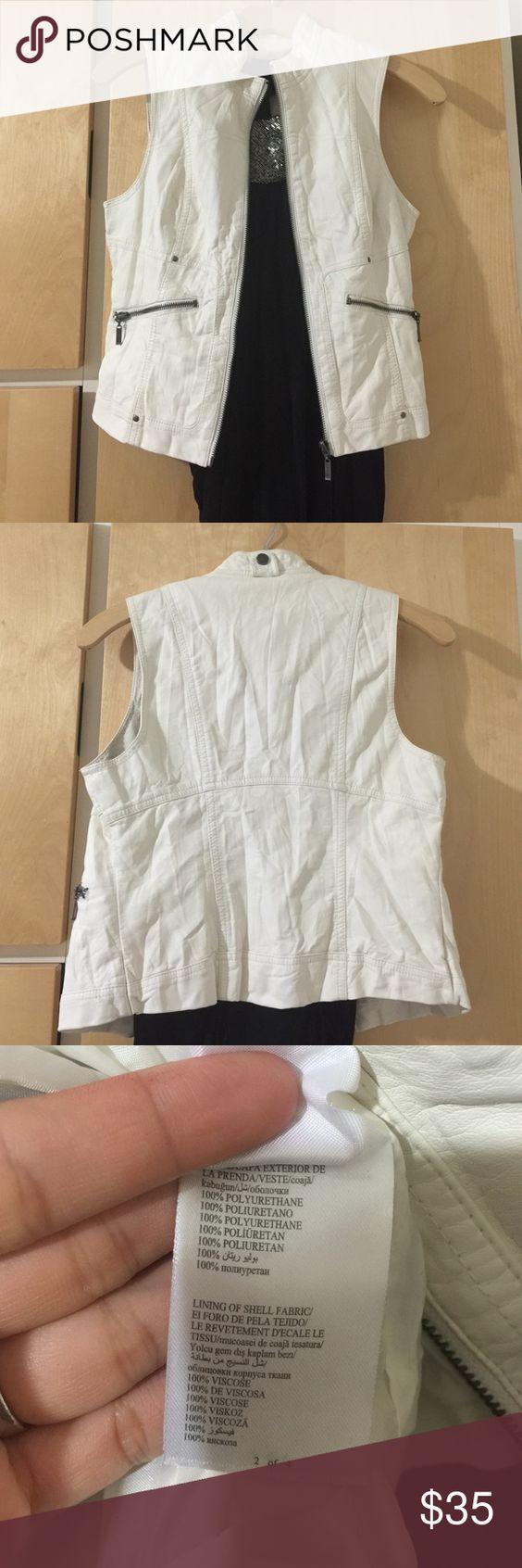 BEBE leather vest jacket. Very nice soft vest jacket from Bebe. Worn once, like new condition. bebe Jackets & Coats Vests