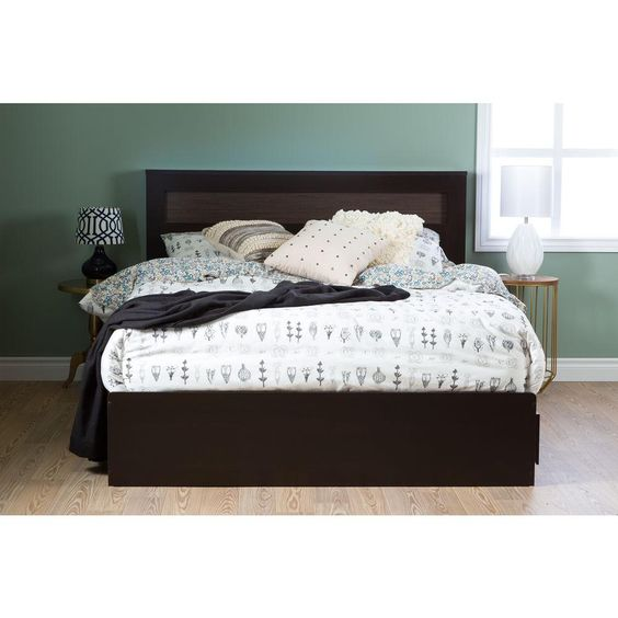 Vito Laminate Particleboard Full/Queen Headboard in Chocolate (Brown)