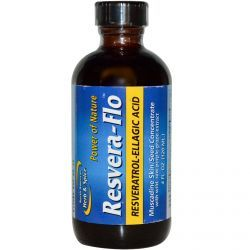 North American Herb & Spice Co., Resvera-Flo, Resveratrol-Ellagic Acid, 4 Fl Oz (120 Ml), Diet Suplements 蛇